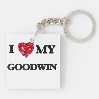 Amo MI Goodwin Llavero Cuadrado Acrílico A Doble Cara