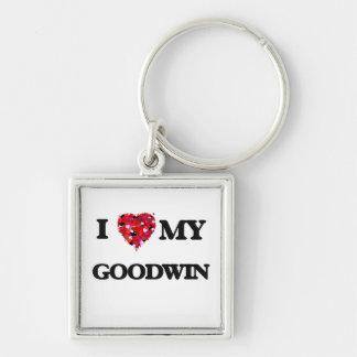 Amo MI Goodwin Llavero Cuadrado Plateado