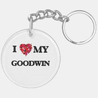 Amo MI Goodwin Llavero Redondo Acrílico A Doble Cara