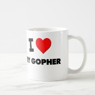 Amo mi Gopher Taza Básica Blanca