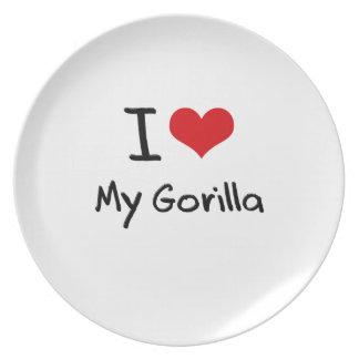 Amo mi gorila plato de cena