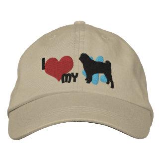 Amo mi gorra bordado barro amasado gorra de béisbol bordada