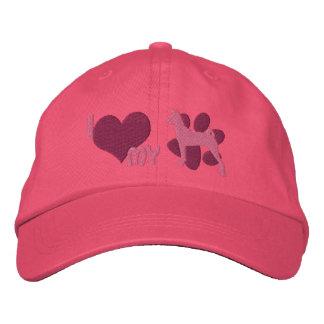 Amo mi gorra bordado Basenji (el rosa) Gorra Bordada
