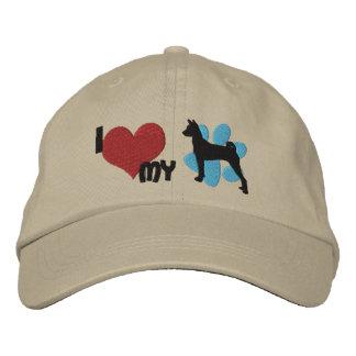 Amo mi gorra bordado Basenji Gorras De Béisbol Bordadas