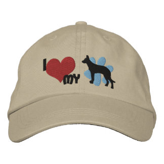 Amo mi gorra bordado Beauceron Gorra Bordada