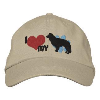 Amo mi gorra bordado border collie gorra bordada