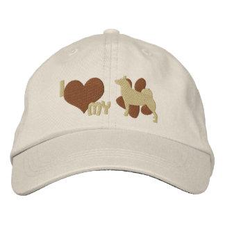 Amo mi gorra bordado Buhund noruego (Brown) Gorra De Béisbol