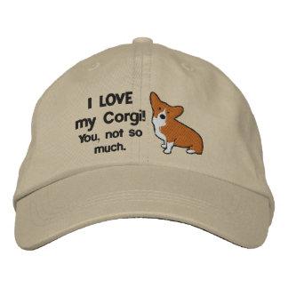 Amo mi gorra bordado Corgi Gorra Bordada