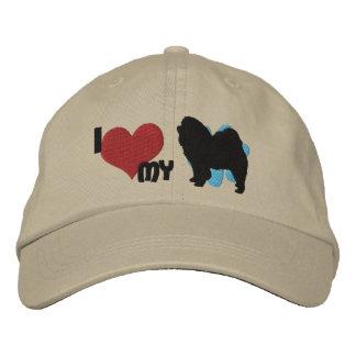 Amo mi gorra bordado del perro chino de perro chin gorras bordadas