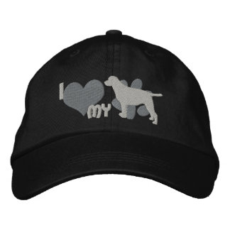 Amo mi gorra bordado labrador retriever gorra bordada