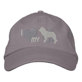 Amo mi gorra bordado Leonberger (gris) Gorra De Béisbol