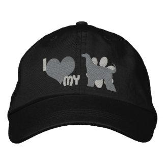 Amo mi gorra bordado monocromo del afgano gorra de béisbol bordada