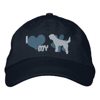 Amo mi gorra bordado Otterhound (azul) Gorra De Beisbol