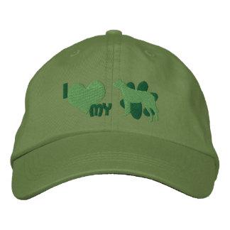 Amo mi gorra bordado perro australiano del ganado gorra de beisbol