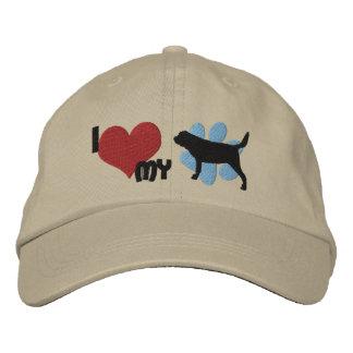 Amo mi gorra bordado sabueso gorro bordado