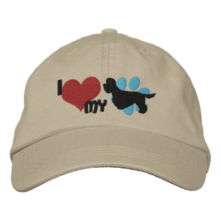 Amo mi gorra bordado Terrier de Dandie Dinmont Gorra Bordada