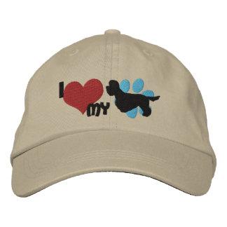 Amo mi gorra bordado Terrier de Dandie Dinmont Gorros Bordados