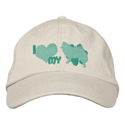 Amo mi gorra bordado trullo americano del perro es gorra bordada