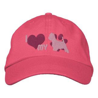 Amo mi gorra bordado Westie (el rosa) Gorros Bordados