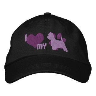 Amo mi gorra bordado Westie (púrpura) Gorra De Beisbol