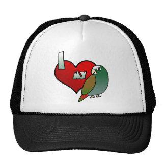 Amo mi gorra capsulado blanco de Pionus