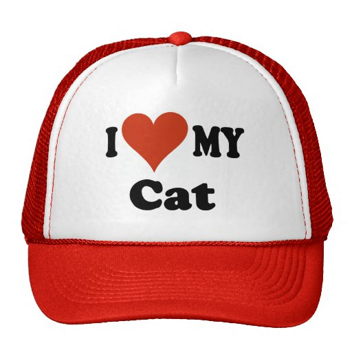 Amo mi gorra de béisbol del gato - gorra