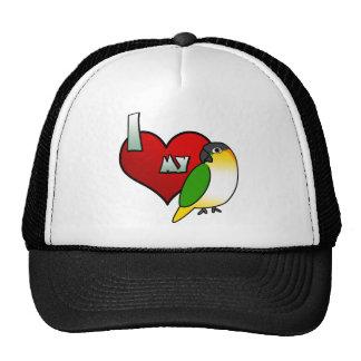 Amo mi gorra de cabeza negra del caique