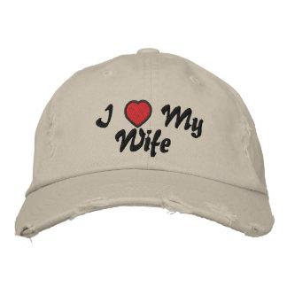 Amo mi gorra de la esposa gorras de beisbol bordadas