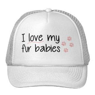 Amo mi gorra de los bebés de la piel