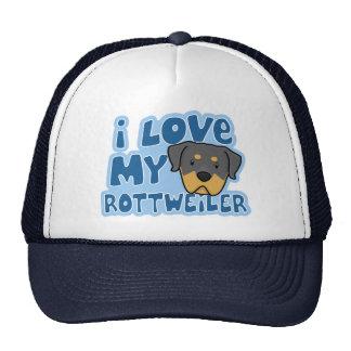 Amo mi gorra de Rottweiler