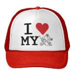 Amo mi gorra del camionero del portero del hockey