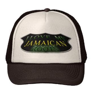 Amo mi gorra jamaicano del camionero de las raíces