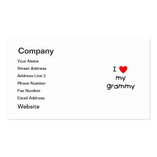 Amo mi Grammy Tarjetas De Visita