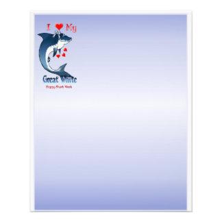 """Amo mi gran blanco 4,5"""" x 5,6"""" folleto 4.5"""" x 5.6"""""""