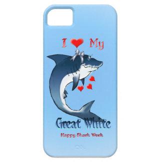 Amo mi gran iphone blanco 5 iPhone 5 carcasas