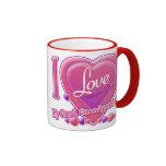 Amo mi gran - los abuelos rosados/púrpura - corazó tazas