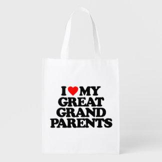 AMO MI GRANDE - los abuelos Bolsas Reutilizables