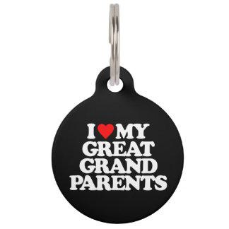 AMO MI GRANDE - los abuelos Placa De Mascota