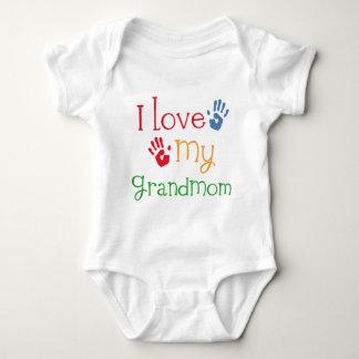 Amo mi Grandmom Handprints Body Para Bebé