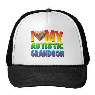 Amo mi Grandson.png autístico Gorra