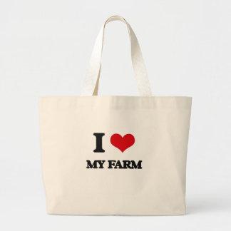 Amo mi granja bolsas de mano