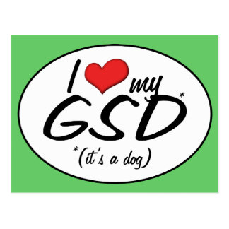 Amo mi GSD (es un perro) Postales