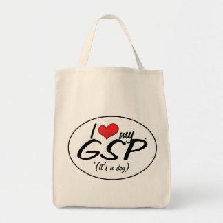 Amo mi GSP (es un perro) Bolsa Tela Para La Compra