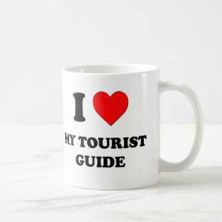 Amo mi guía turística tazas de café
