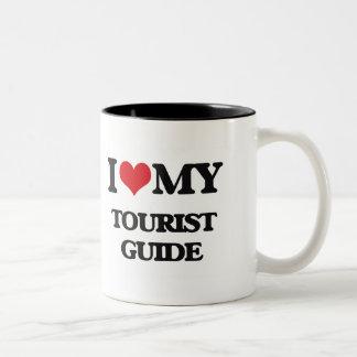 Amo mi guía turística taza de café