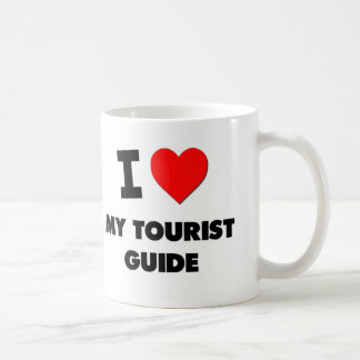 Amo mi guía turística taza