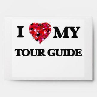 Amo mi guía turístico sobres