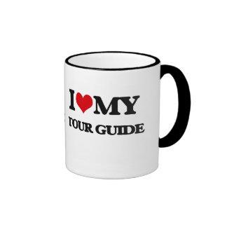 Amo mi guía turístico taza de café