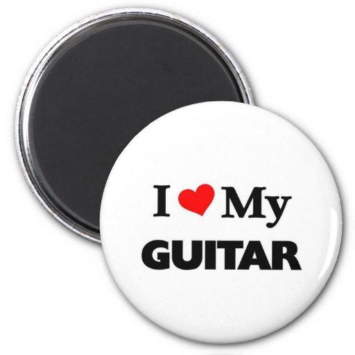 Amo mi guitarra imán redondo 5 cm