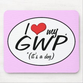 Amo mi GWP (es un perro) Tapetes De Ratones
